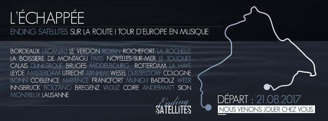 L'échappée, le tour musical de Ending Satellites